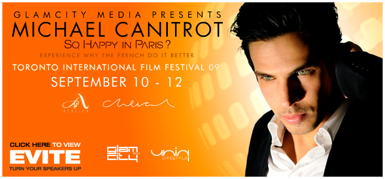BE* with MICHAEL CANITROT for GET LOW movie screening after party at TIFF 09