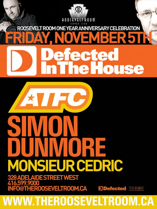 Defected in the house with atfc simon dunmore idol for House music labels