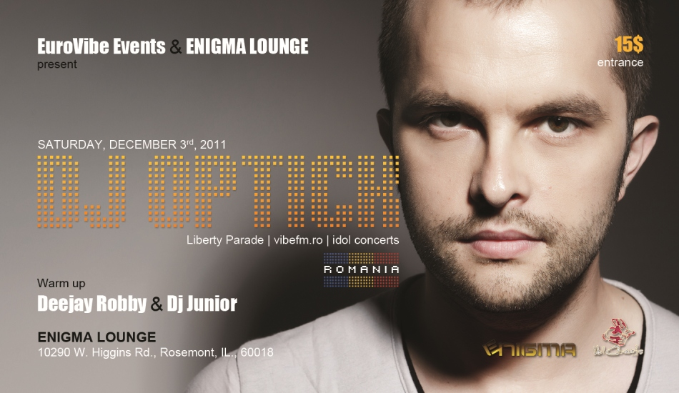 DJ OPTICK at ENIGMA LOUNGE (Chicago) | DEC 3