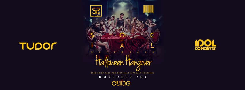 #HALLOWEEN HANGOVER w/ DJ TUDOR at CUBE | NOV 1